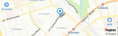 Мая на карте Алматы