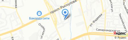 Продовольственный магазин на ул. Чурина на карте Алматы