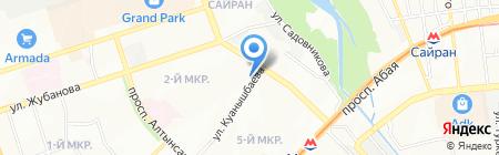 Нотариус Нуркасымов Д.М. на карте Алматы