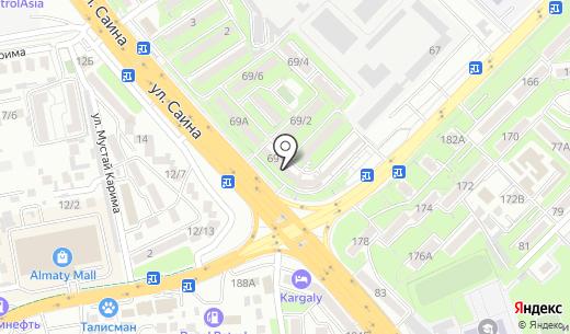 Нур-Али. Схема проезда в Алматы