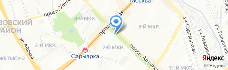 Нотариус Манкаева Ж.К. на карте Алматы