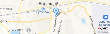 Продовольственный магазин на ул. Гагарина на карте Алматы