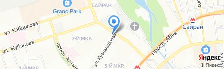 Центр доктора Бубновского С.М. в г. Алматы на карте Алматы