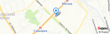 Киоск по ремонту часов на карте Алматы