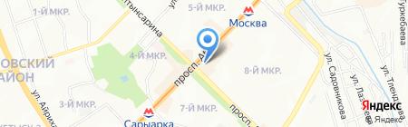 Строящиеся объекты на карте Алматы