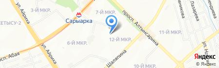 Общеобразовательная школа №9 на карте Алматы