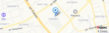 Овощной магазин на ул. 9-й микрорайон на карте Алматы