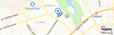 Нотариус Унайбаева Б.К. на карте Алматы