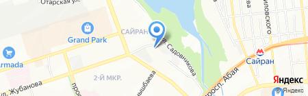 Алматыжылу на карте Алматы