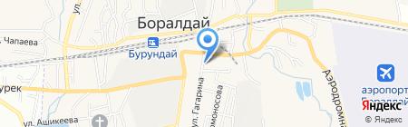Даурен на карте Алматы