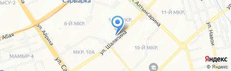 Дастан на карте Алматы