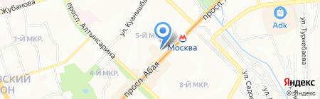 Пагода на карте Алматы