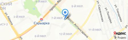 Брахма Кумарис на карте Алматы