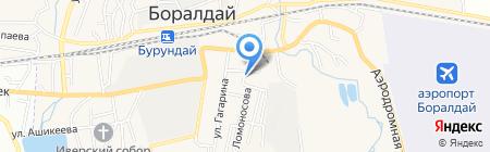 Автостоянка на ул. Ломоносова на карте Алматы