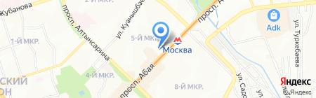 Казак адебиети жане мемлекеттик тил на карте Алматы