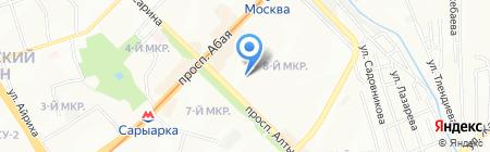 Молдир на карте Алматы
