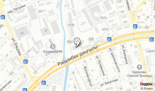 ГАММА-ПРИНТ. Схема проезда в Алматы