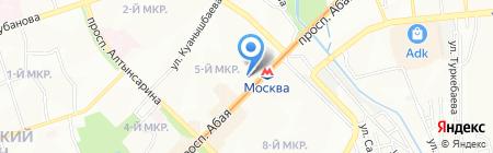 Енлик на карте Алматы