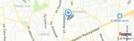 Аулие Ата на карте Алматы