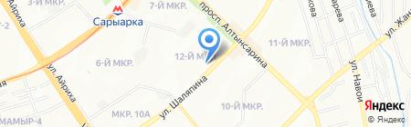 Лесенка успеха на карте Алматы