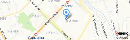 Открытая школа на карте Алматы