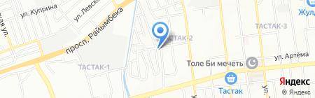 Транс-Синегорье на карте Алматы