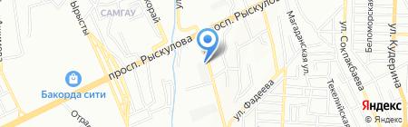 Шиномонтажная мастерская на ул. Немировича-Данченко на карте Алматы