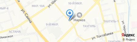 Мерей-2 на карте Алматы