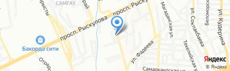 Высотспецстрой на карте Алматы