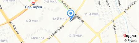 Подруги на карте Алматы