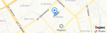Школа-гимназия №1 на карте Алматы