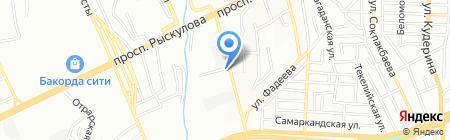 Алгашкы Адым на карте Алматы