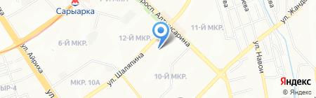Арай-12 на карте Алматы