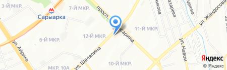Focus на карте Алматы