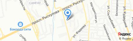 Темирказык на карте Алматы