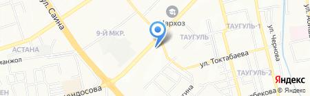 Мастерская по ремонту обуви на ул. Жандосова на карте Алматы