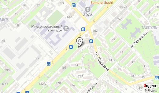 Сеть ателье. Схема проезда в Алматы