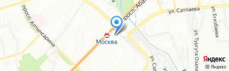 Пориком на карте Алматы