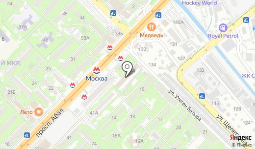 NIKA. Схема проезда в Алматы