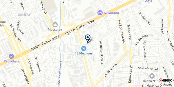 Транссервис на карте Алматы