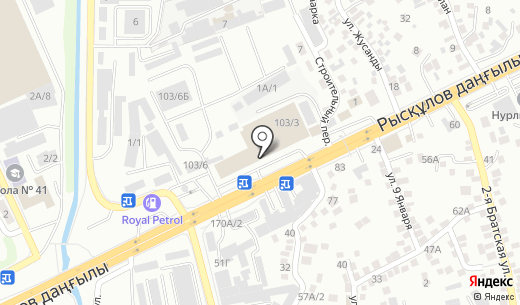 Интерпрофиль. Схема проезда в Алматы