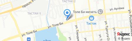 Алматинская мебельная фабрика на карте Алматы