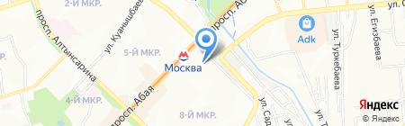 Мате Залка на карте Алматы