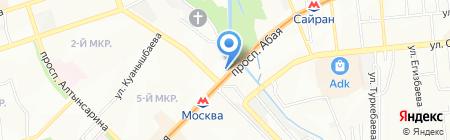 Керемет парикмахерская на карте Алматы