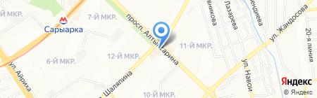 Мото-Мото Бегемот на карте Алматы