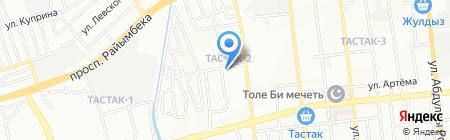 Будан на карте Алматы