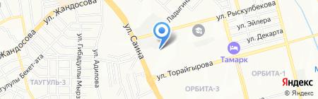 Нур на карте Алматы