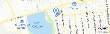 Автостоянка №10 на карте Алматы
