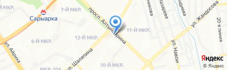 Тиынка на карте Алматы