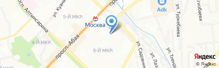 Удобный на карте Алматы